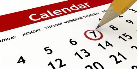 Calendar 2018/2019